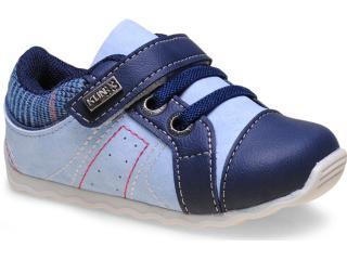 Tênis Masc Infantil Klin 166.016 Jeans/azul - Tamanho Médio