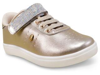 Tênis Fem Infantil Klin 188.014 Dourado - Tamanho Médio