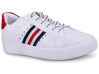 Tênis Feminino Kolosh C1322 Branco/vermelho - Tamanho Médio