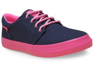 Tênis Feminino Mary Jane 4081 Marinho/pink - Tamanho Médio