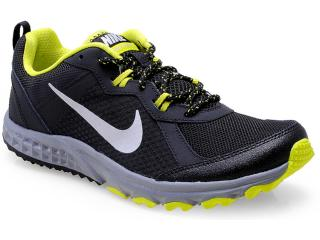 Tênis Masculino Nike 642833-002 Wild Trail Preto/limão - Tamanho Médio