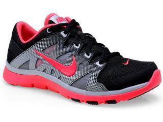 Tênis Feminino Nike 616694-009 Flex Supreme tr 2 Preto/cinza/coral - Tamanho Médio