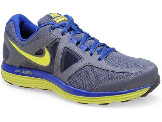 Tênis Masculino Nike 642821-002 Dual Fusion Lite 2 Msl Chumbo/marinho/limão - Tamanho Médio