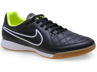 Tênis Masculino Nike 631283-017 Tiempo Genio Leather ic Preto/branco - Tamanho Médio