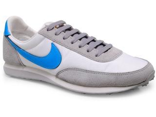Tênis Masculino Nike 311082-144 Elite Branco/cinza/celeste - Tamanho Médio