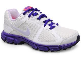 Tênis Feminino Nike 537572-107 Downshifter 5 Msl Branco/roxo - Tamanho Médio