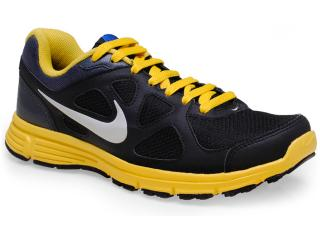 Tênis Masculino Nike 488184-013 Revolution Msl Preto/amarelo - Tamanho Médio
