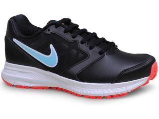 Tênis Feminino Nike 684768-006 Wmns Downshifter 6 Lea Preto/celeste/branco - Tamanho Médio