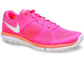 18fadd7e10e Tênis Feminino Nike 642780-602 Wmns Flex 2014 rn Msl Pink salmão branco