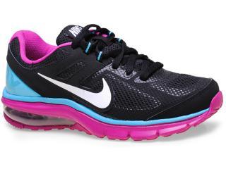 Tênis Feminino Nike 599390-002 Wmns Air Max Defy rn  Preto/roxo/celeste - Tamanho Médio