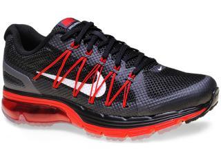 Tênis Masculino Nike 703072-004 Air Max Excellerate 3 Preto/vermelho - Tamanho Médio