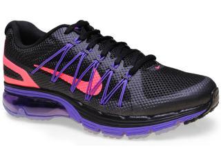 Tênis Feminino Nike 703073-002 Air Max Excellerate 3  Preto/roxo - Tamanho Médio