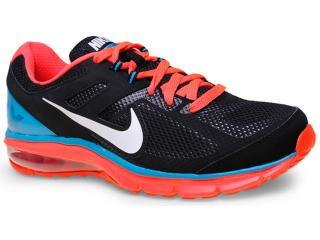 Tênis Masculino Nike 599343-005 Air Max Defy rn  Preto/azul/laranja - Tamanho Médio
