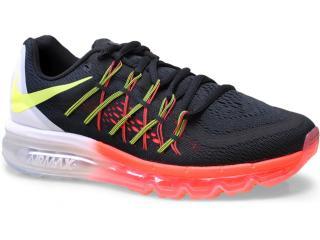 Tênis Masculino Nike 698902 007 Air Max 2015  Preto/laranja/branco - Tamanho Médio