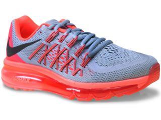 Tênis Feminino Nike 698903-009 Wmns Air Max 2015 Cinza/rosa Neon - Tamanho Médio