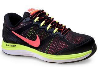 7caf47feab Tênis Fem Infantil Nike 654150-009 Dual Fusion Run 3 Preto/limão/coral