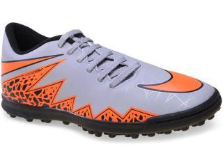 Tênis Masculino Nike 749891-080 Hypervenom Phade ii tf  Cinza/laranja - Tamanho Médio