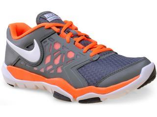 Tênis Masculino Nike 749165-003 Flex Supreme tr 4 Grafite/laranja - Tamanho Médio