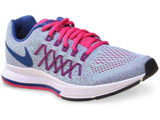 Tênis Fem Infantil Nike 759972-400 Zoom Pegasus 32  Azul/pink - Tamanho Médio