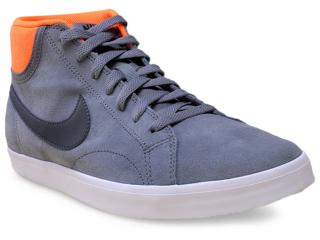 Tênis Masculino Nike 555250-008 Eastham Mid  Cinza/laranja - Tamanho Médio
