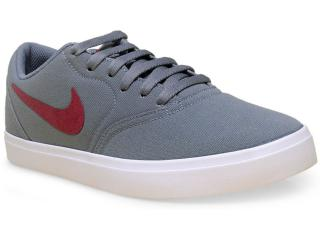 Tênis Masculino Nike 705268-060 sb Check Cnvs  Cinza - Tamanho Médio