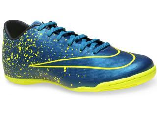 Tênis Masculino Nike 651635-440 Mercurial Victory v ic  Azul/amarelo Neon - Tamanho Médio