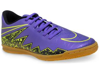 Tênis Masculino Nike 749890-550 Hypervenom Phade ii ic Roxo/verde - Tamanho Médio