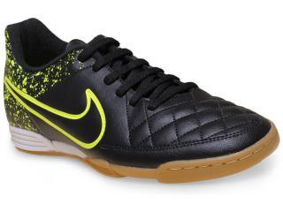 Tênis Masculino Nike 631523-007 Tiempo Rio ii ic  Preto/limão - Tamanho Médio