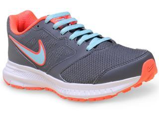 Tênis Feminino Nike 684771-018 Wmns Downshifter 6 Msl   Grafite/laranja/azul - Tamanho Médio