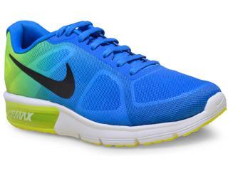 Tênis Masculino Nike 719912-403 Air Max Sequent Azul/limão - Tamanho Médio