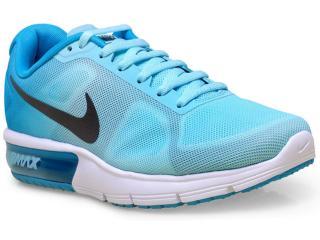 Tênis Feminino Nike 719916-402 Wmns Air Max Sequent Azul Aqua/azul - Tamanho Médio