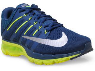Tênis Masculino Nike 806770-407 Air Max Excellerate 4  Marinho/limão - Tamanho Médio