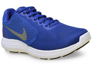 Tênis Masculino Nike 819300-400 Revolution 3  Marinho - Tamanho Médio