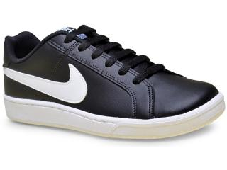 Tênis Masculino Nike 749747-010 Court Royale  Preto/branco - Tamanho Médio