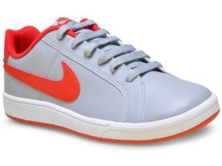 Tênis Masculino Nike 749747-061 Court Royale  Cinza/vermelho - Tamanho Médio