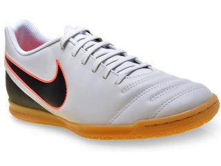 Tênis Masculino Nike 819234-001 Tiempo Rio Iii ic Cinza/preto/coral - Tamanho Médio