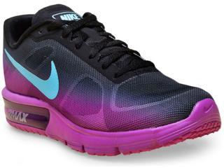 Tênis Feminino Nike 719916-010 cp Max Roxo/preto/azul - Tamanho Médio