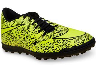 Tênis Masculino Nike 768917-770 Bravata tf  Limão/preto - Tamanho Médio