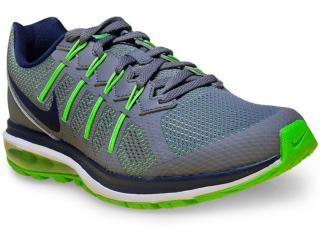 Tênis Masculino Nike 819150-006 Air Max Dynasty Cinza/verde - Tamanho Médio