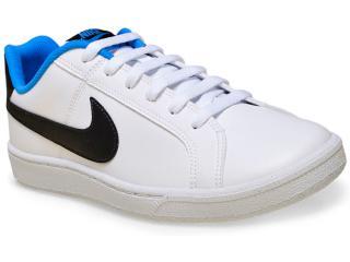 Tênis Masculino Nike 749747-104 Court Royale  Branco/preto/azul - Tamanho Médio