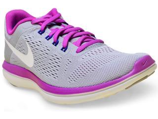 Tênis Feminino Nike 830751-004 Flex 2016 rn  Cinza/roxo - Tamanho Médio