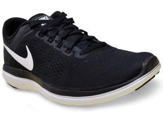 Tênis Masculino Nike 830369-001 Flex 2016 rn  Preto/branco - Tamanho Médio