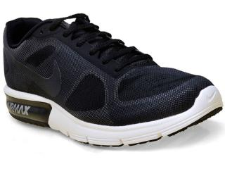 Tênis Masculino Nike 719912-009 Air Max Sequent Preto - Tamanho Médio