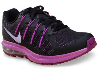 Tênis Feminino Nike 819154-005 Air Max Dynasty Msl  Preto/roxo - Tamanho Médio