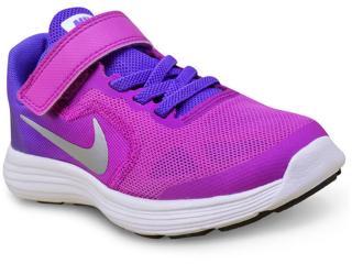 8fe92a3530 Tênis Fem Infantil Nike 819417-503 Revolution 3 Psv Pink roxo