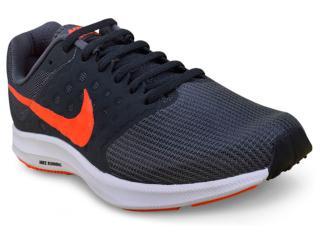 Tênis Masculino Nike 852459-010 Downshifter 7  Grafite/laranja - Tamanho Médio