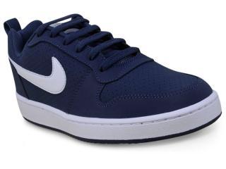 Tênis Masculino Nike 838937-401 Court Borough Low Azul/branco - Tamanho Médio