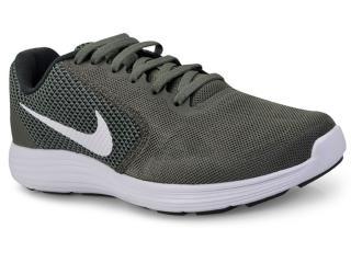 Tênis Masculino Nike 819300-020 Revolution 3 Verde Musgo/branco - Tamanho Médio