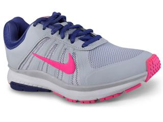Tênis Feminino Nike 831539-007 Dart 12 Msl Shoe  Cinza/rosa/azul - Tamanho Médio