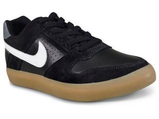 Tênis Masculino Nike 942237-005 Delta Force Vulc Skateboarding  Preto/branco - Tamanho Médio